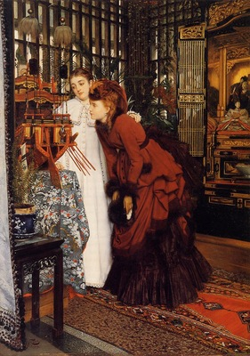 Tissot James Jacques Young Women Looking at Japanese Objects