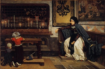 Tissot Marguerite in Church