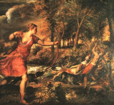 TIZIANO DEATH OF ACTAEON, NG LONDON