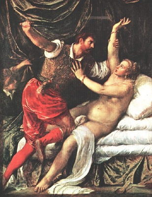 TIZIANO TARQUIN AND LUCRECE, FITZWILLIAM MUSEUM