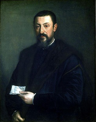 TIZIANO PORTRAIT OF A FRIEND OF TITIAN