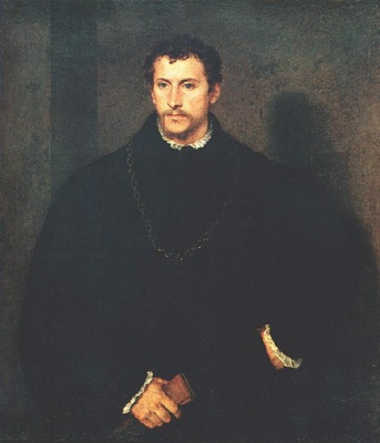 TIZIANO PORTRAIT OF A MAN THE YOUNG ENGLISHMAN PITTI FIREN