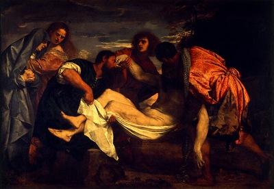 Tiziano La mise en tombeau, ca 1525, 148x212 cm, Louvre