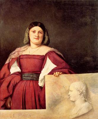 titian portrait of a woman called la schiavona 1508