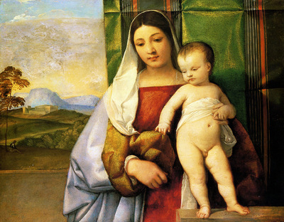 titian the gipsy madonna 1510