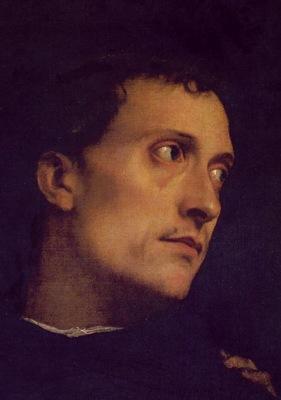 Tiziano Konserten Detalj Firenze Palazzo Pitti