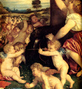Titian The Worship of Venus 1518 19 detail
