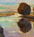 Toorop Jan Landscape with canal Sun