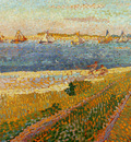 Toorop Jan The Schelde at Veere Sun