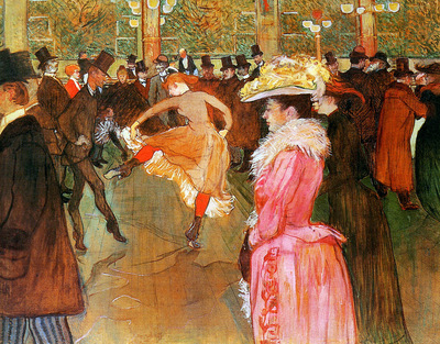 Toulouse Lautrec de Henri Dance in the moulin rouge Sun