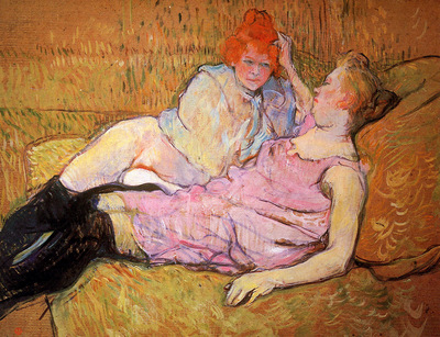 Toulouse Lautrec de Henri The sofa Sun