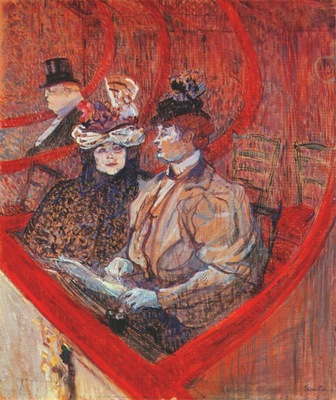 lautrec a box at the theater 1896