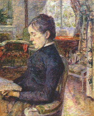lautrec comtesse adele de toulouse lautrec in the salon at malrome