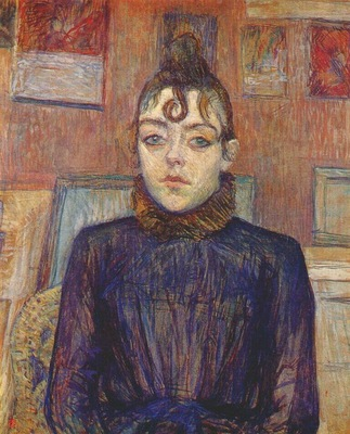 lautrec girl with lovelock