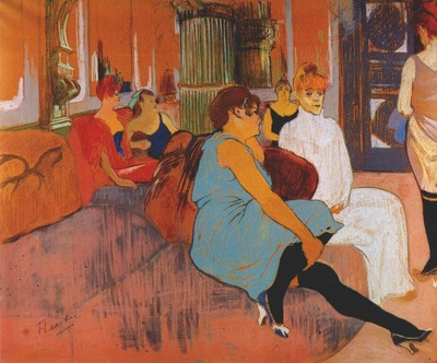 lautrec in the salon of the rue des moulins c1894