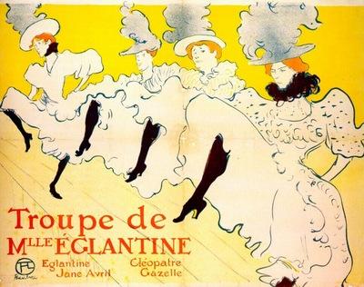 lautrec la troupe de mlle eglantine poster 1895