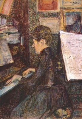 lautrec mlle marie dihau at the piano