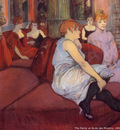 Henri Toulouse Lautrec The parlor at rude des Moulines