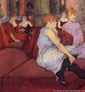 Henri Toulouse Lautrec The parlor at rude des Moulines