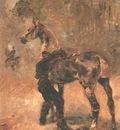 Toulouse Lautrec Artilleryman Saddling a Horse, 1879, T  L