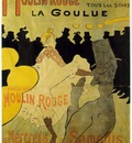 Toulouse Lautrec Moulin Rouge La Goulue, lithografie, 1891,