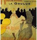 Toulouse Lautrec Moulin Rouge La Goulue, lithografie, 1891,