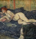 Toulouse Lautrec Reclining nude, 1897, Barnes foundation