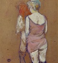 Toulouse Lautrec Two Half Naked Women Seen from behind in th