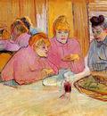 Toulouse Lautrec de Henri Diningroom in brothel Sun
