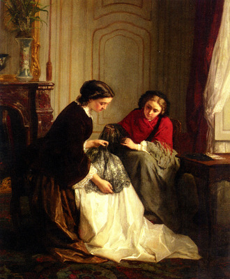 Jean Baptiste Trayer The Lace Makers