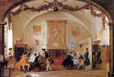 Troost Cornelis A Guard Room Sun