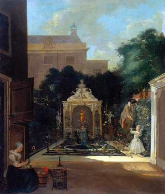 Troost Cornelis City garden in Amsterdam Sun