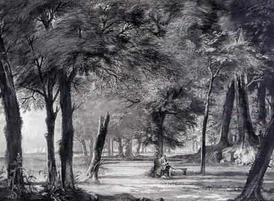 Troost Cornelis Reading Gentleman In A Forest Sun