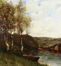 Trouillebert Paul Desire FISHERMAN AT THE RIVER S EDGE