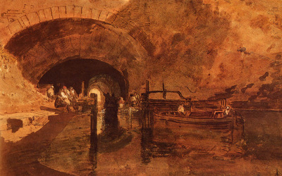 Turner Joseph Mallord William A Canal Tunnel Near Leeds