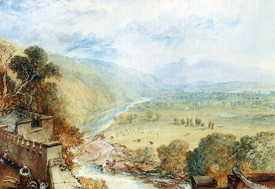 Turner Joseph Mallord William Ingleborough From The Terrace Of Hornby Castle