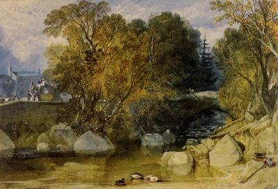 Turner Joseph Mallord William Ivy Bridge Devonshire
