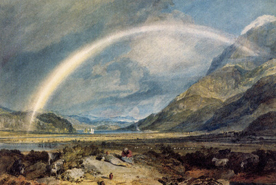 Turner Joseph Mallord William Kilchern Castle with the Cruchan Ben mountains Scotland Noon