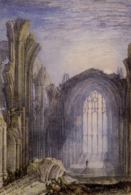 Turner Joseph Mallord William Melrose Abbey