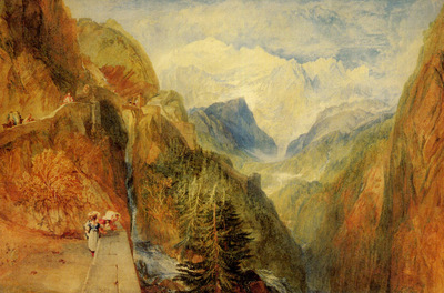 Turner Joseph Mallord William Mont Blanc from Fort Roch Val d Aosta