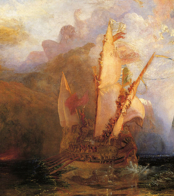 Turner Joseph Mallord William Odysseus Deriding Polyphemus detail1