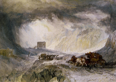 Turner Joseph Mallord William Passage of Mount Cenis