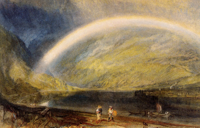 Turner Joseph Mallord William Rainbow  A view on the Rhine from Dunkholder Vineyard of Osterspey