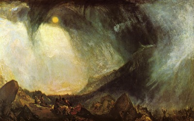 Turner Joseph Mallord William Snow Storm Hannibal and His Army Crossing the Alps