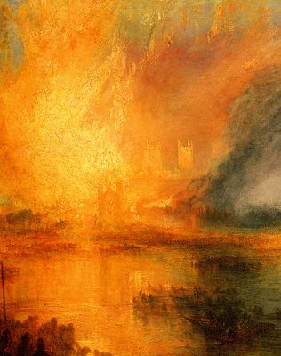 Turner Joseph Mallord William The Burning of the Hause of Lords and commons detail1