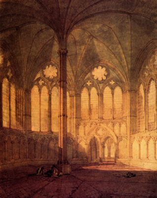 Turner Joseph Mallord William The Chapter House Salisbury Cathedral