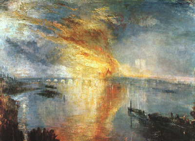 Turner Joseph The Burning of the Houses of Parliament