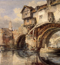 Turner Joseph Mallord William Welsh Bridge at Shrewsbury