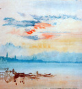 Turner Joseph View to the east from Giudecca Sun