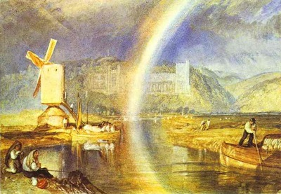 William Turner Arundel Castle, with Rainbow